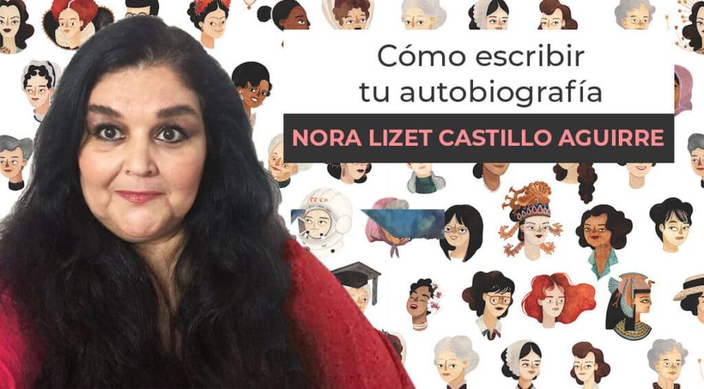 Portada del Curso Cómo escribir tu autobiografía de Nora Aguirre